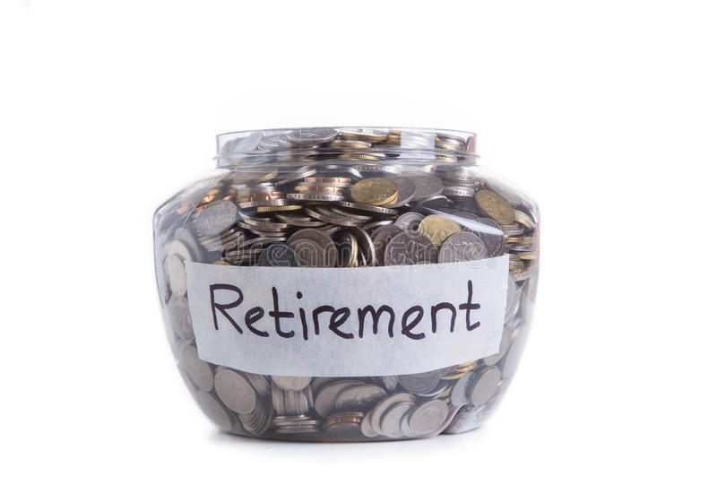 Pensioneringsbesparingen royalty-vrije stock fotografie