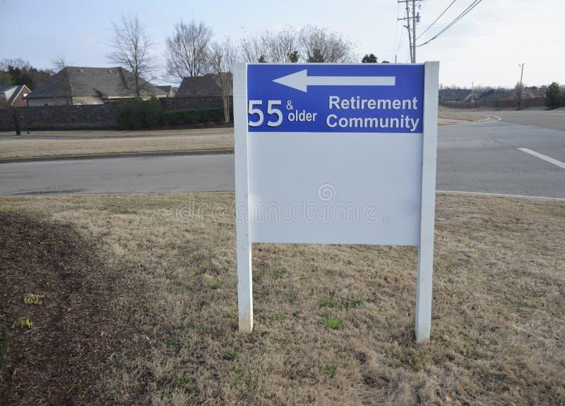 Pensioneringsgemeenschap 55 en Ouder royalty-vrije stock afbeelding