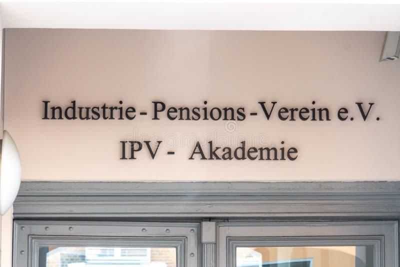 Pensiones alemanas Verein e de Industrie V imágenes de archivo libres de regalías