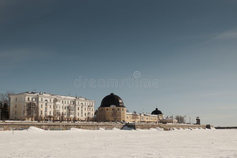Pensiones en Arkhangelsk fotografía de archivo libre de regalías
