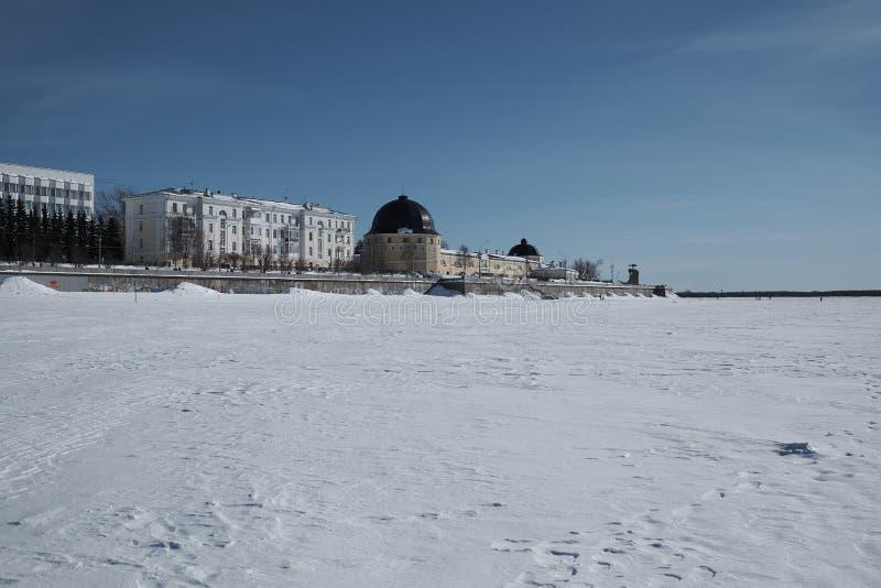 Pensiones en Arkhangelsk foto de archivo libre de regalías
