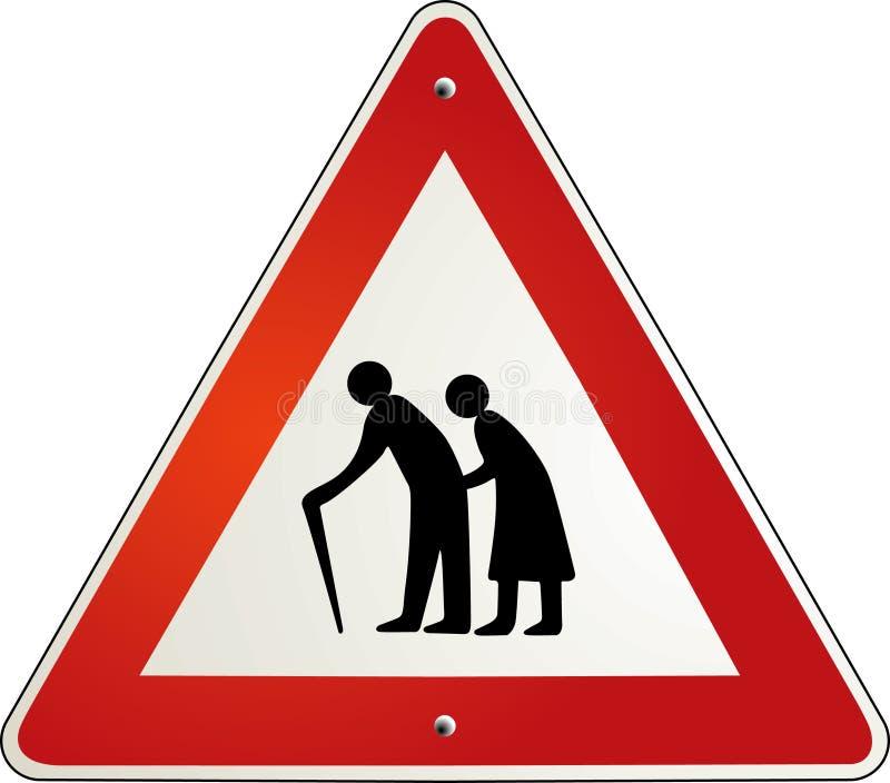 pensionista da aposentadoria da atenção ilustração royalty free