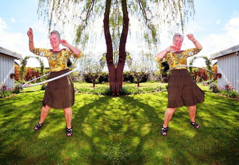 pensionista del ejercicio foto de archivo