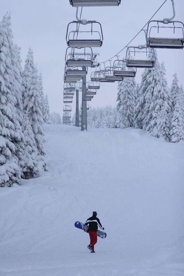 Pensionista solitário da neve foto de stock royalty free