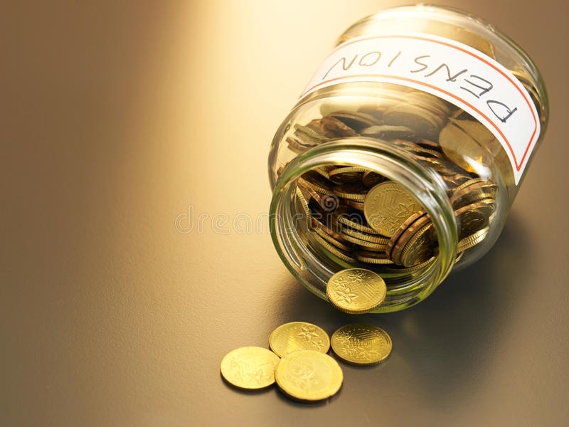 Pensionskasse lizenzfreie stockfotografie