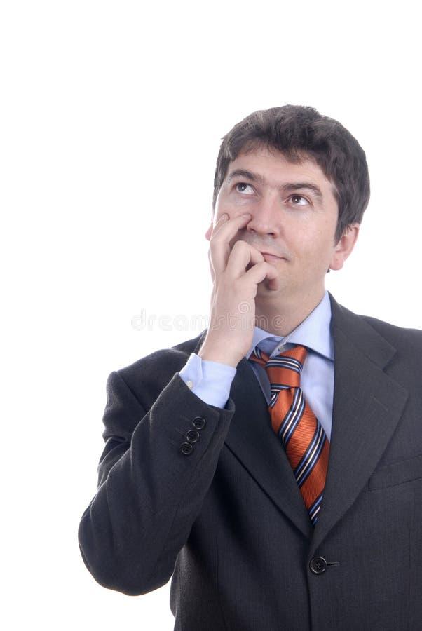 Pensive stock image