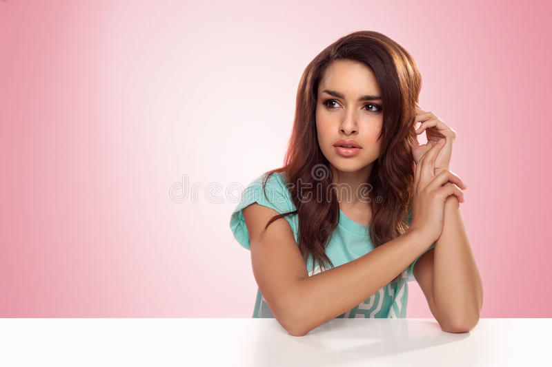 Download Pensive Woman Staring Into Space Stock Photo - Image: 30246206