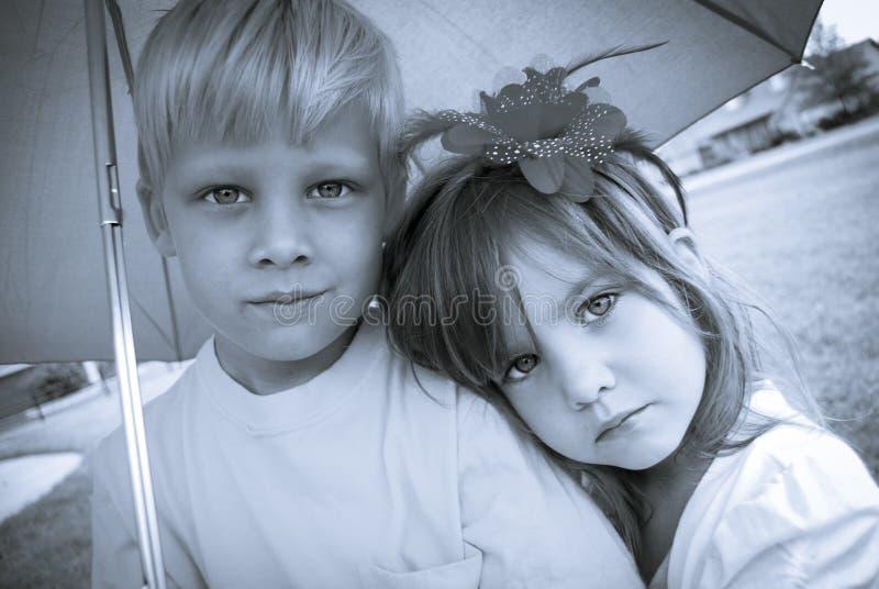 Download Boy And Girl Under Umbrella Stock Image - Image: 29796281