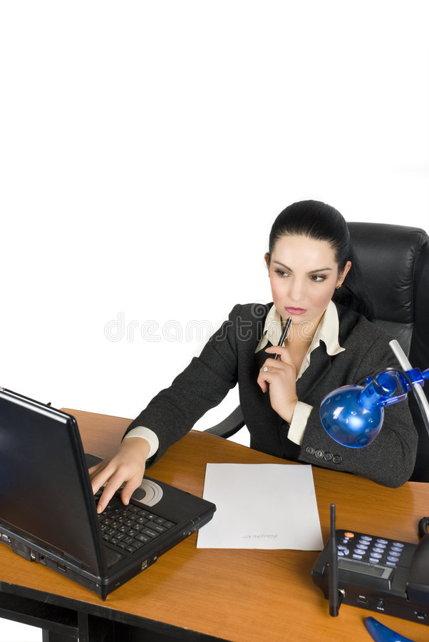 Download Pensive business women stock photo. Image of objects, lamp - 6979198