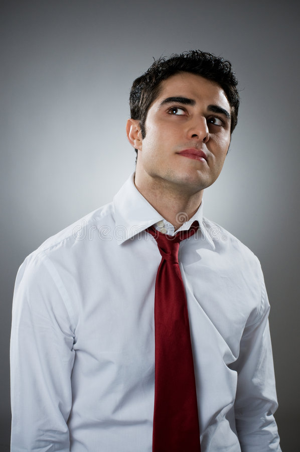 Download Pensive businessman stock image. Image of happy, looking - 8585493