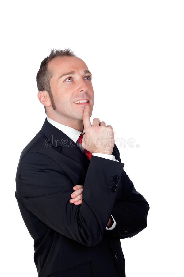 Download Pensive Businessman Isolated Stock Image - Image: 28132001