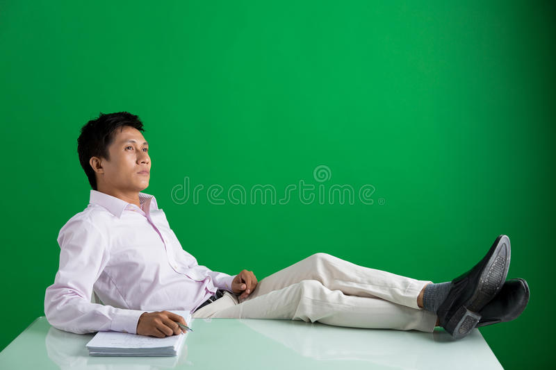 Pensive businessman stock photography