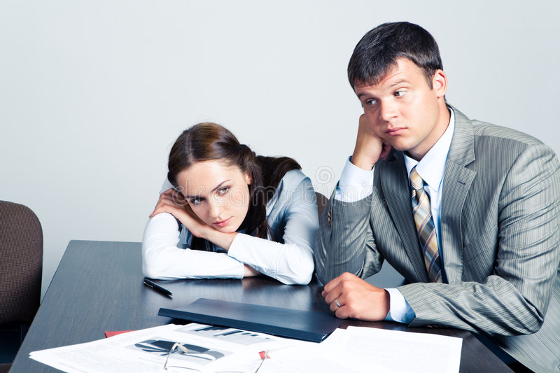 Download Pensive businesspeople stock image. Image of businesspeople - 6265607