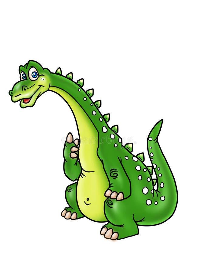 Pensive dinosaur royalty free illustration