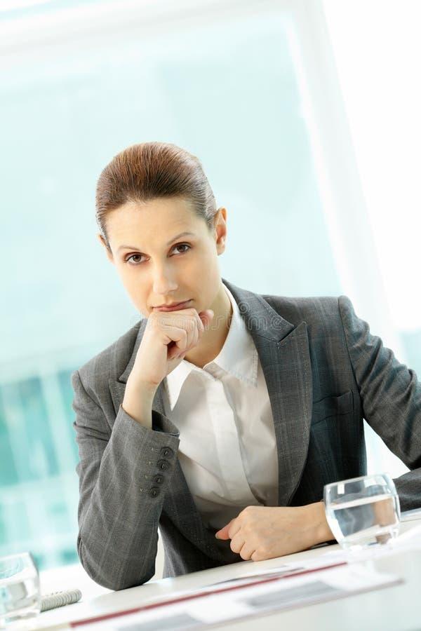 Pensive employer stock photos
