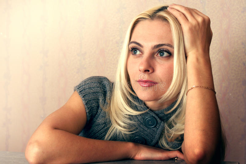 Download Pensive girl stock photo. Image of attractive, image - 16838334