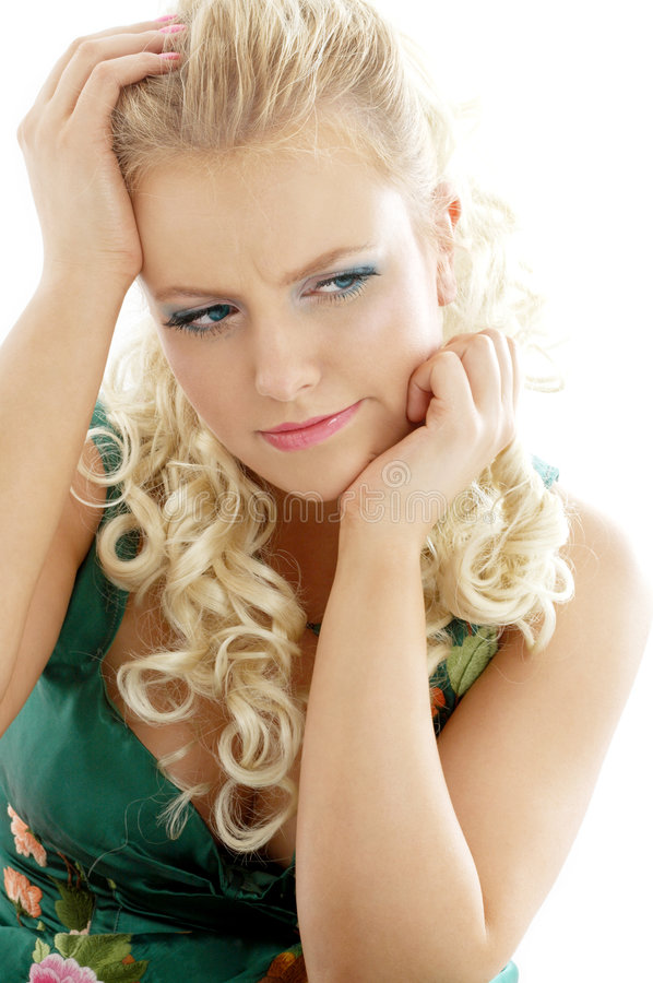 Download Pensive girl stock image. Image of caucasian, annoyance - 1951805