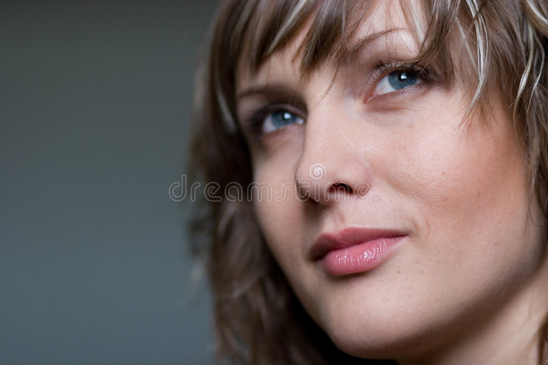 Download Pensive girl stock photo. Image of model, complexion, hand - 3573646