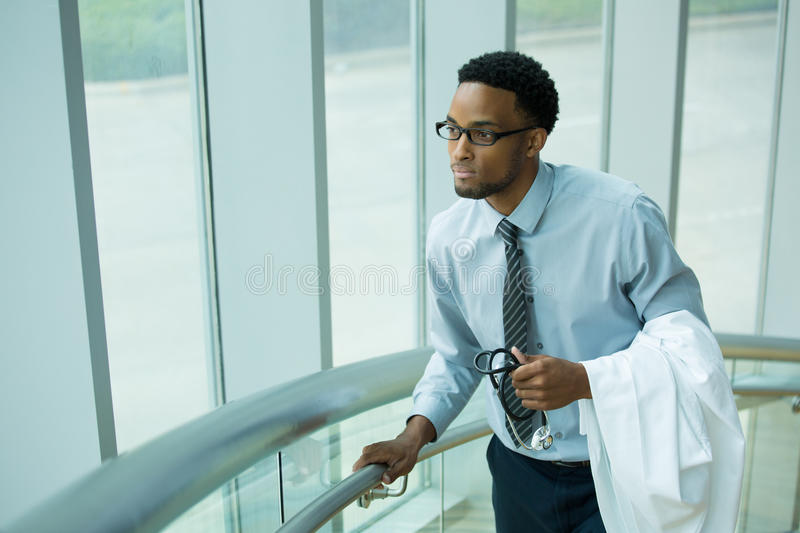Pensive healthcare professional stock photography