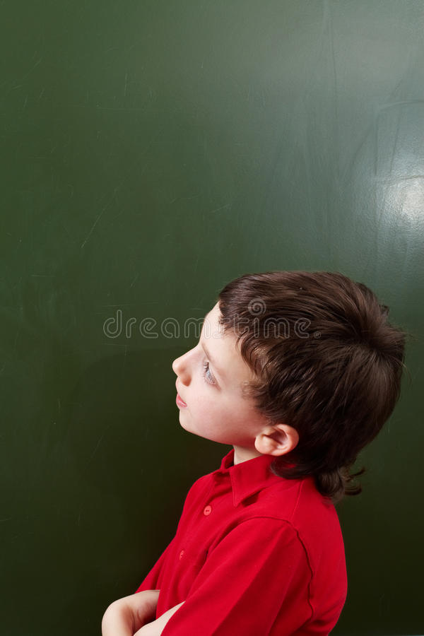 Download Pensive kid stock photo. Image of little, idea, expression - 24514040