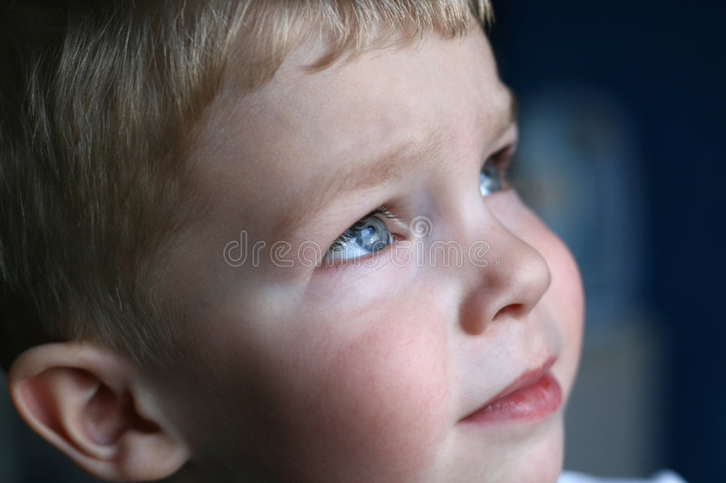 Pensive kid royalty free stock photos