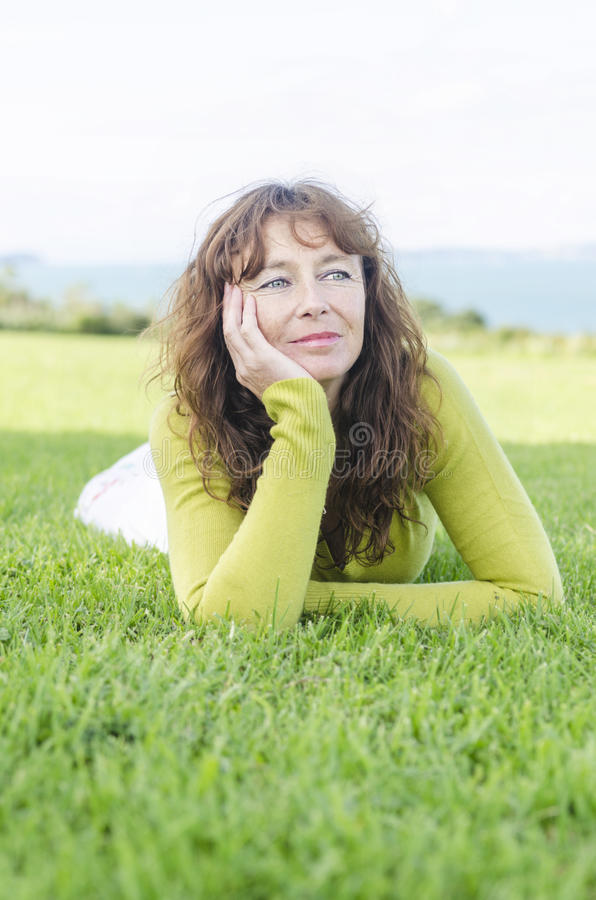 Pensive looking woman royalty free stock photos