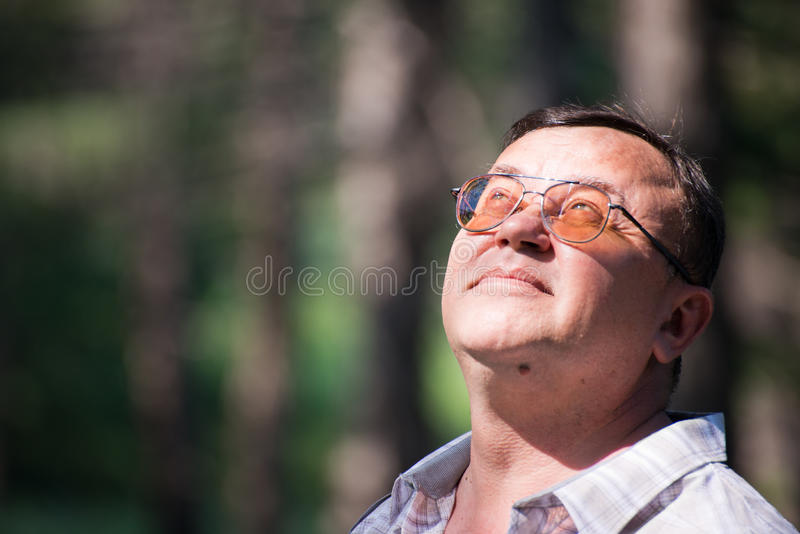 Download Pensive Man Looking Up Stock Photography - Image: 25589022