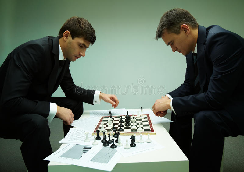 Pensive Players Stock Photo