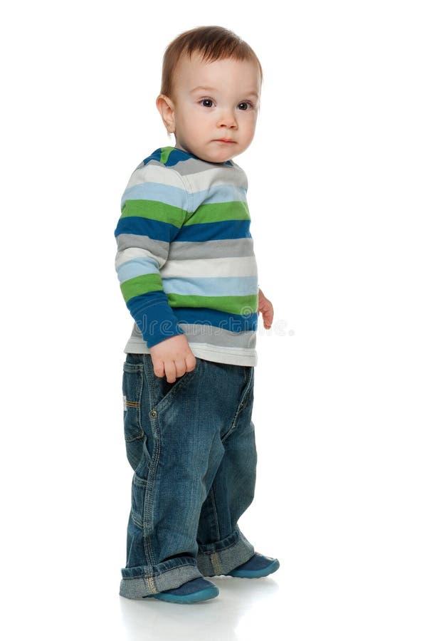 Pensive toddler royalty free stock photo