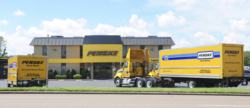 Penske ciężarówki wynajem biznes obrazy royalty free