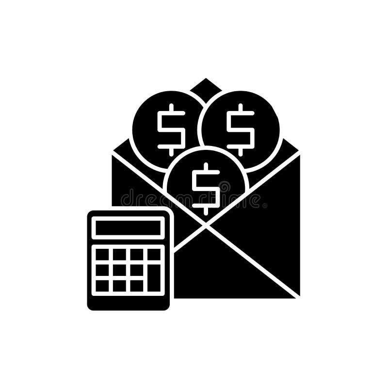 Pensyjna czarna ikona, wektoru znak na odosobnionym tle Pensyjny pojęcie symbol, ilustracja ilustracji