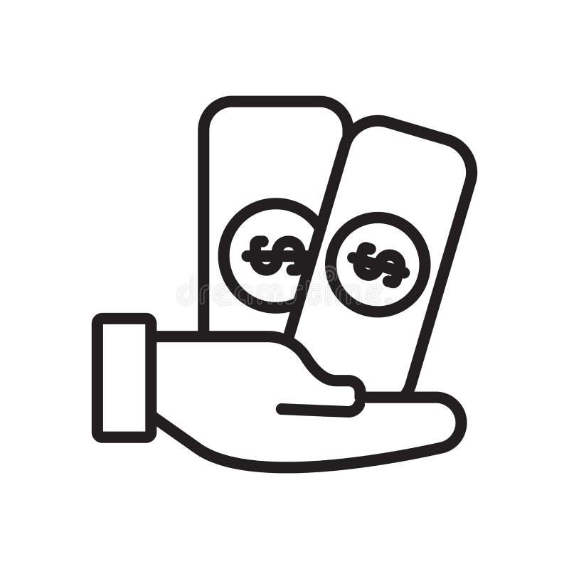 Pensyjny ikona wektor odizolowywający na białym tle, pensja znak ilustracja wektor