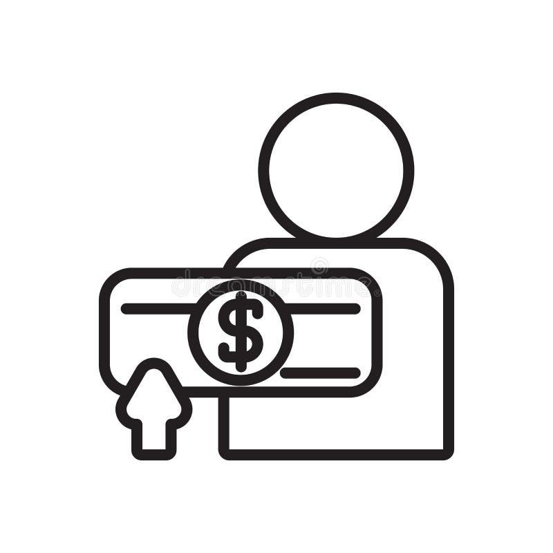 Pensyjny ikona wektor odizolowywający na białym tle, pensja znak royalty ilustracja
