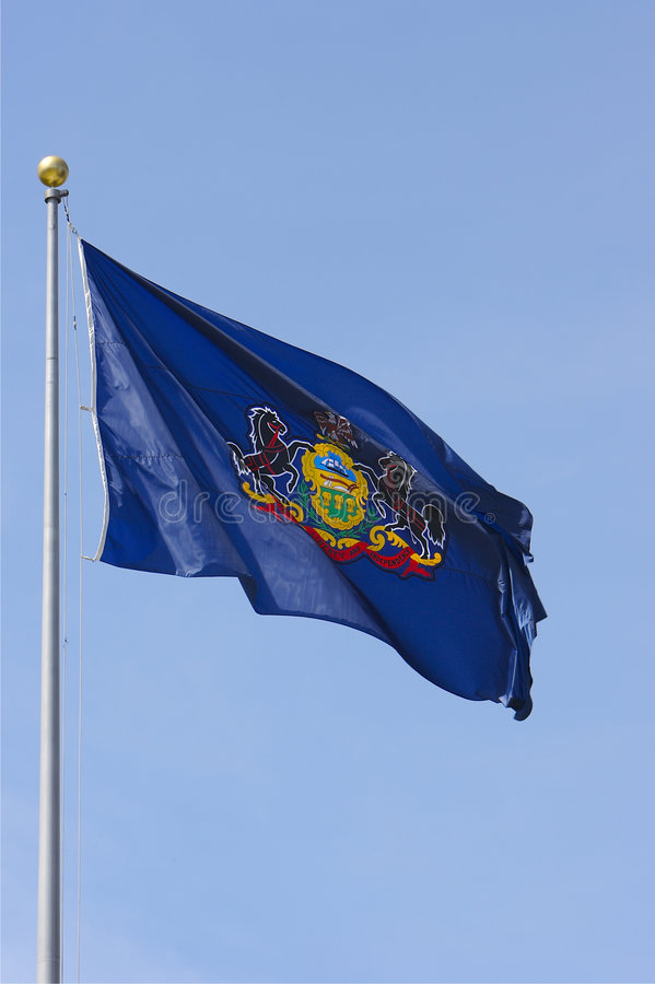 Pensylwanii bandery zdjęcia royalty free