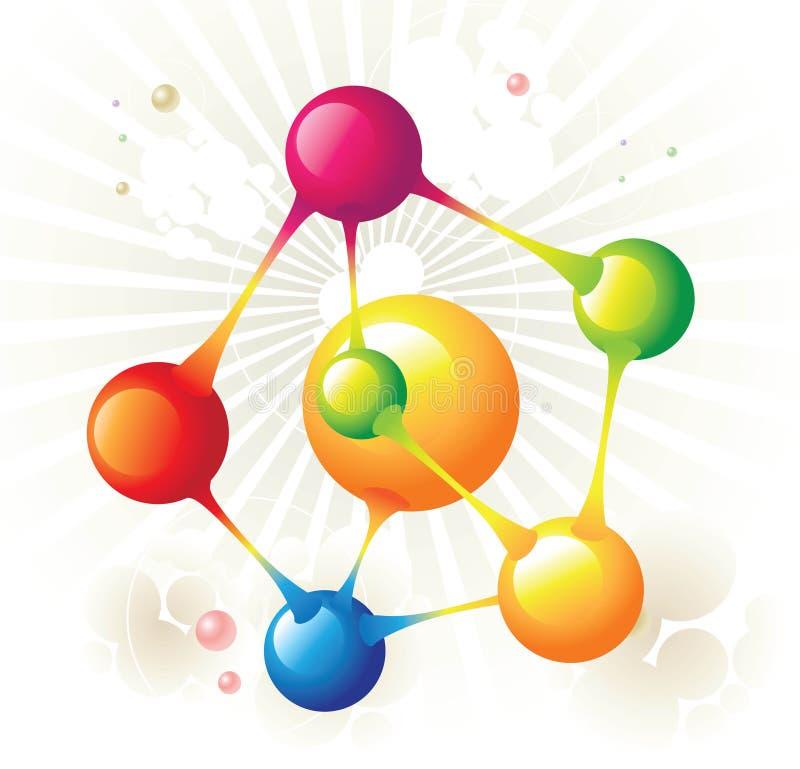 Pentágono de la molécula ilustración del vector