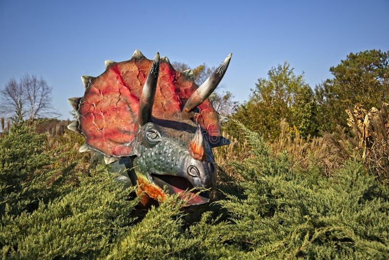 Pentaceratops恐龙 图库摄影