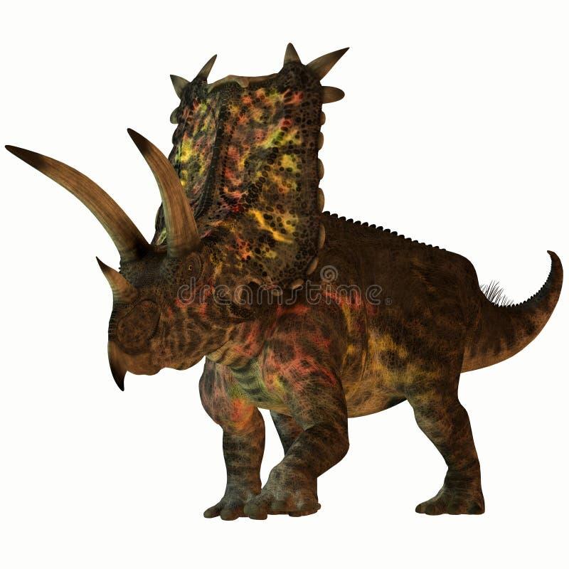 Pentaceratops no branco ilustração stock