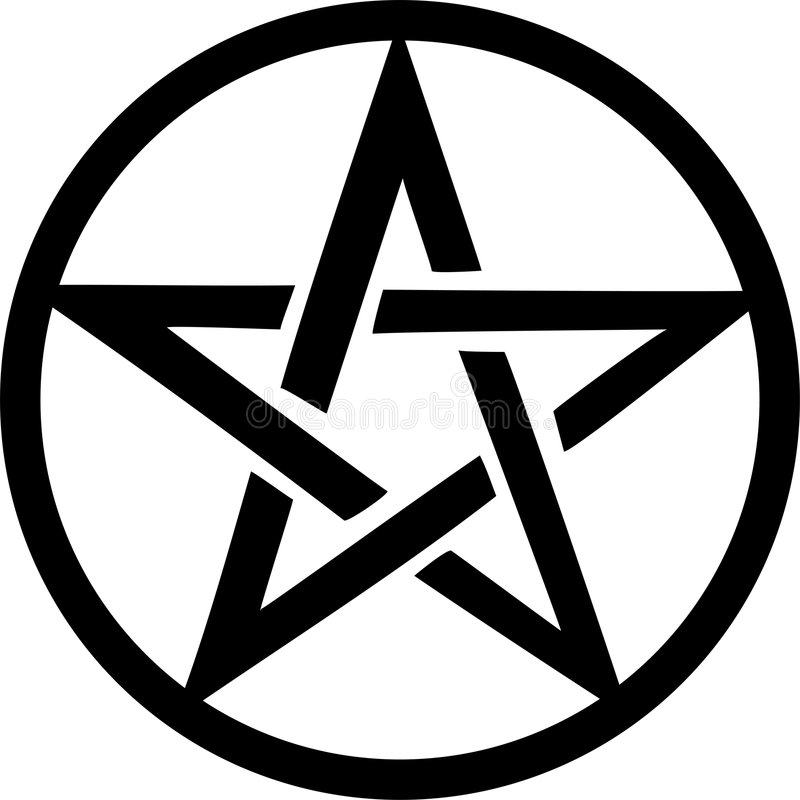 Pentacle stock illustratie