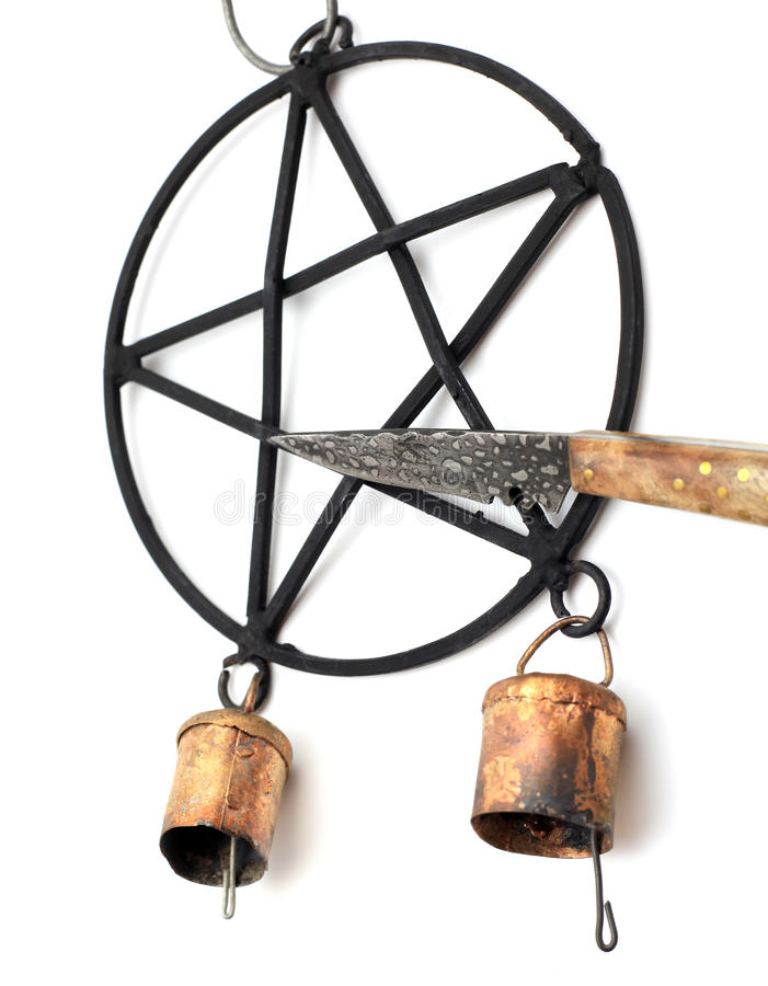 Pentacle Athame Wiatrowy Chime i