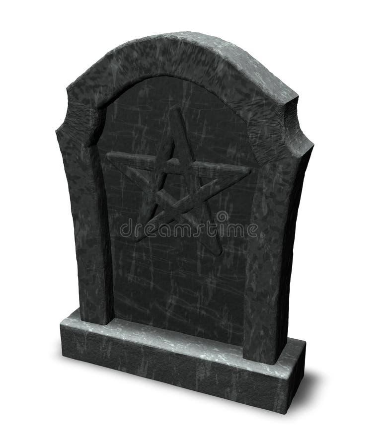Pentacle auf Grabstein vektor abbildung