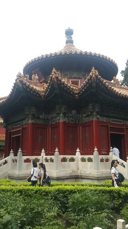 Pentadecagon byggnad i Forbidden City i Peking, Kina royaltyfria bilder