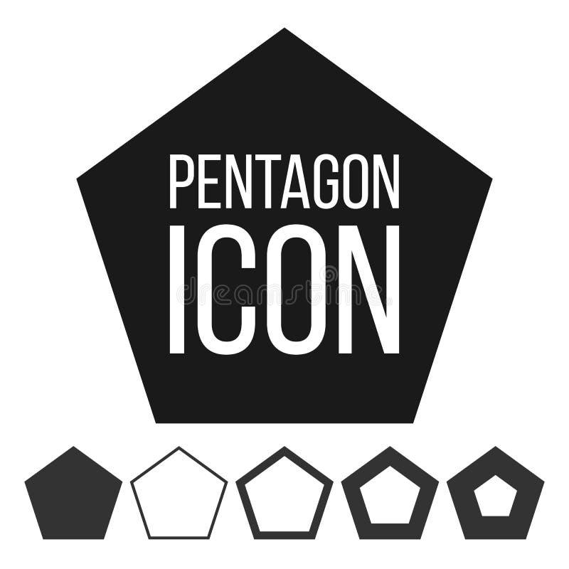 Pentagon Icon Vector. 5 Five Sided Symbol. Geometry Chart. Pentagonal Diagram Sign. Polygon Pictogram. Pentagonal Icon stock illustration