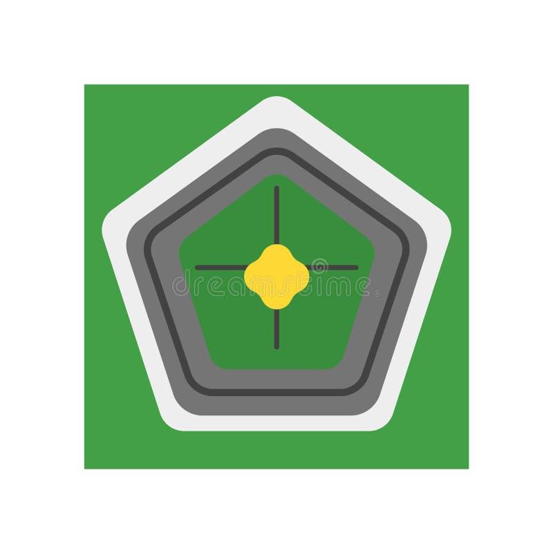 Pentagon ikony wektoru znak i symbol odizolowywający na białym backgroun royalty ilustracja
