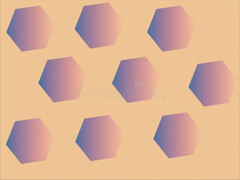 Pentagon jest dimensional obrazy stock