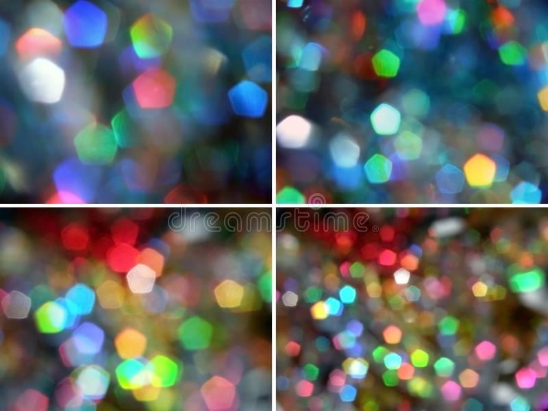 Pentagon Rainbow Light Sparkles Free Stock Images