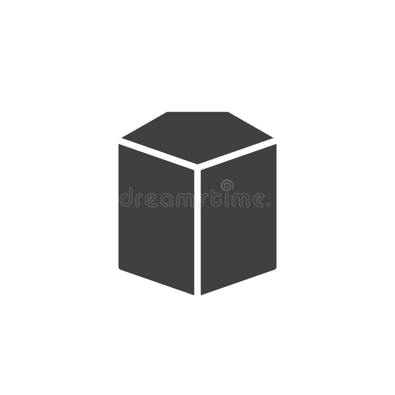 Pentagonal cylinder geometrical figure vector icon. Filled flat sign for mobile concept and web design. Cylinder geometric shape simple solid icon. Symbol stock illustration