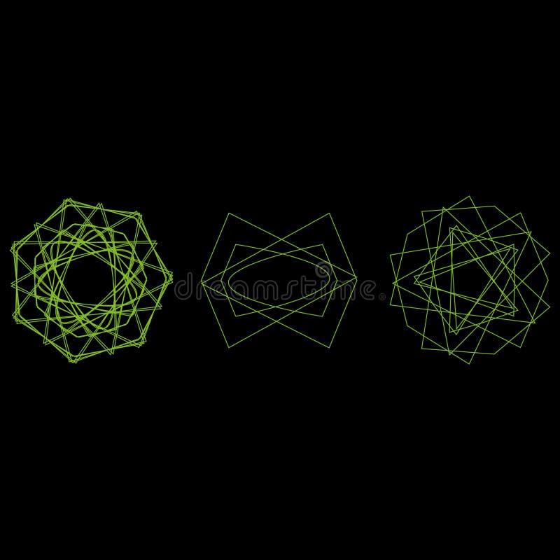 Pentagone étoilé réglé d'astrologie d'étoile d'icône de modèle de symbole illustration de vecteur