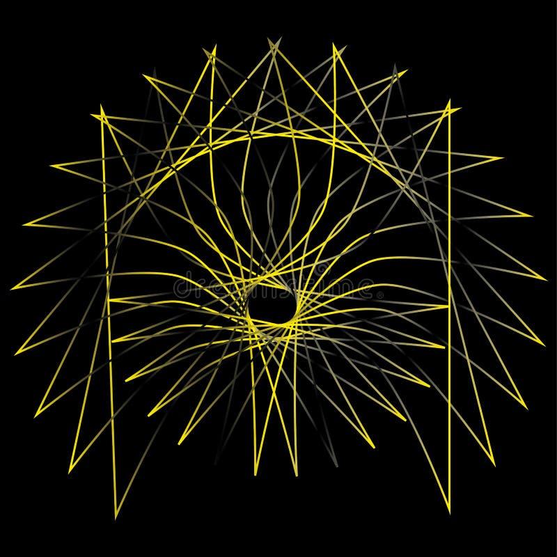 Pentagone étoilé réglé d'astrologie d'étoile d'icône illustration libre de droits