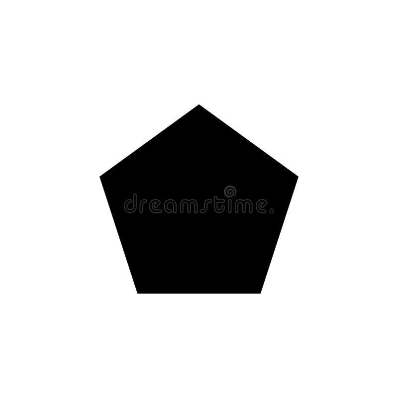 Pentagonsymbol Beståndsdelar av det geometriska diagramet symbol för begrepps- och rengöringsdukapps Illustrationsymbol för den w royaltyfri illustrationer