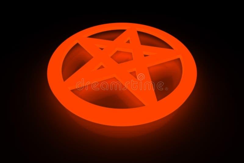 Pentagram ilustração stock